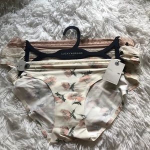 3 Lucky Brand Bikinis Panties M